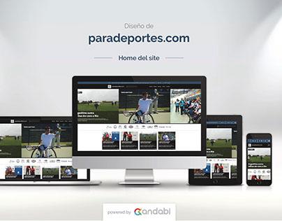 Desktop & Mobile website design for paradeportes.com.ar