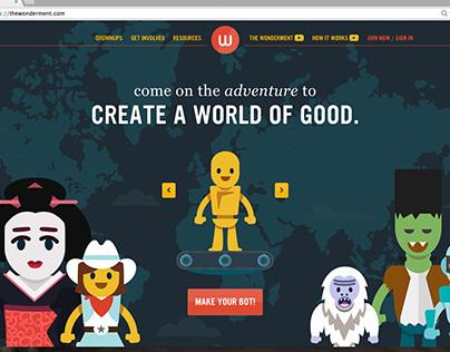 KIDNECTED WORLD // THE WONDERMENT WEB PLATFORM AND APP