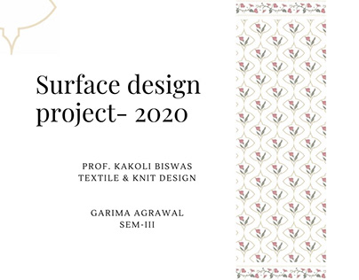 Good Earth inspired- Surface design project