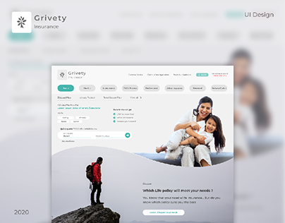 Grivety - (Insurance Company) UI Design