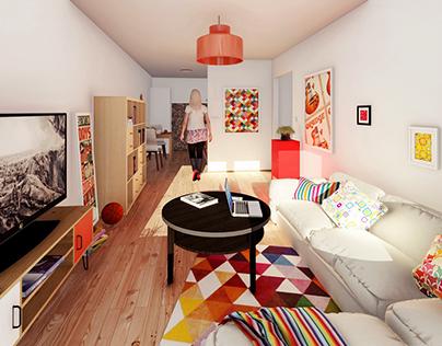 Apartment visualization.