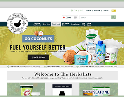 The Herbalists Brand and Website Design