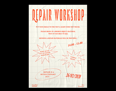 Repair Workshop Poster Design