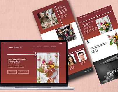 Web Design, Rosa Roja Flower Shop