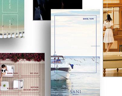 Sani Resort mobile app | UI UX Design proposals