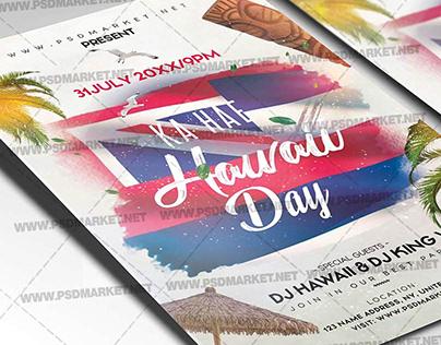 Ka Hae Hawaii Day Flyer - PSD Template