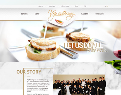 Web Design for a Catering Company