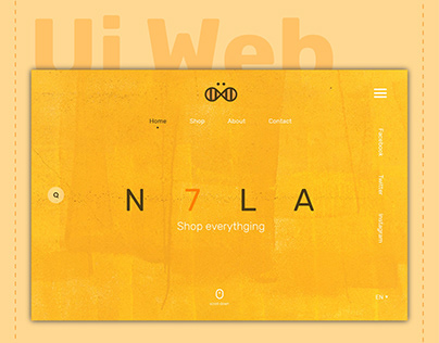 N7LA store logo and ui web design