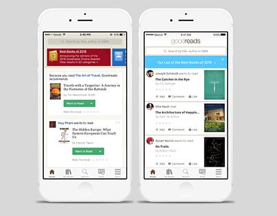 Goodreads App Redesign Concept