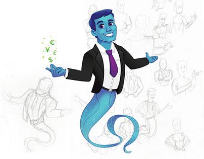 Income Genie Mascot
