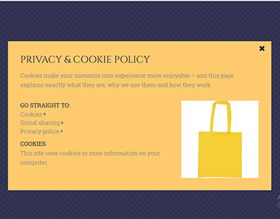 Shopper Cookie Policy Popup by Elementor Pro