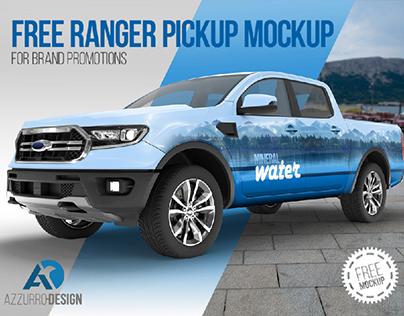 FREE Ranger Pickup mockup (PSD)