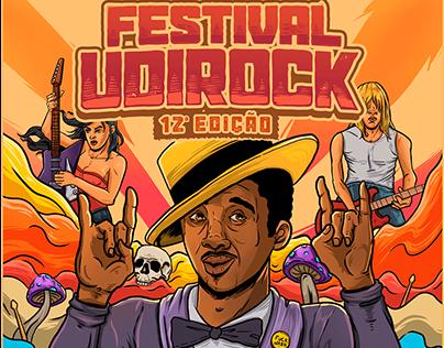 Festival Udirock 12ª edição - poster