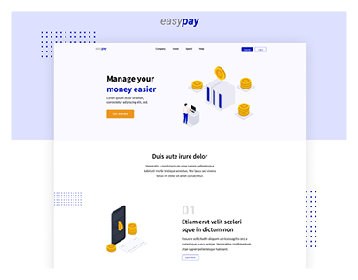Easy Pay - Landing Page Design