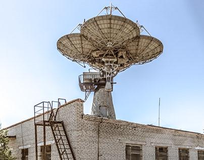 The abandoned Sputnik radar station in Kazakhstan