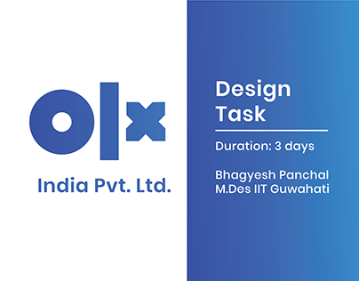 OLX Design Task   Internship drive 2019
