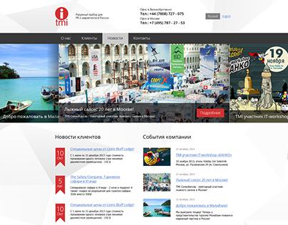 Двуязычный сайт для международной компании TMI