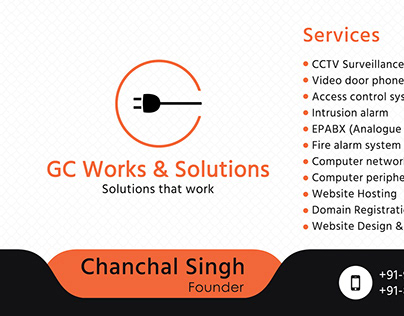GC Work & Solution Business Card
