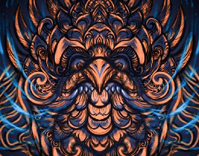 karang goak balinese ornament