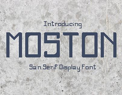 Moston - A San Serif Display Font