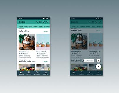 Kitchen App Mobile & Desktop Design