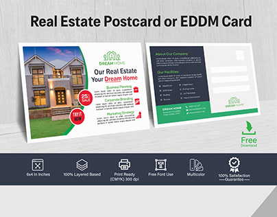 High End Real Estate Postcard Design