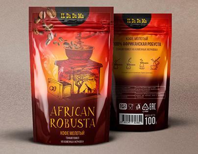 ILDADAMA packaging for coffee and tea