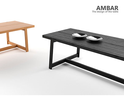 """""""AMBAR"""" The design of the table"""
