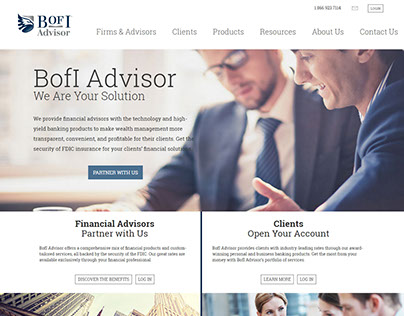 BofI Advisor Website Redesign