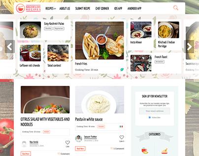 Wordpress food website
