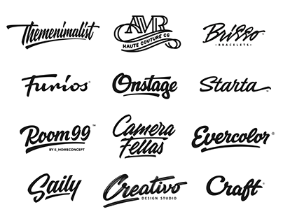 Lettering logotypes , compilation 3