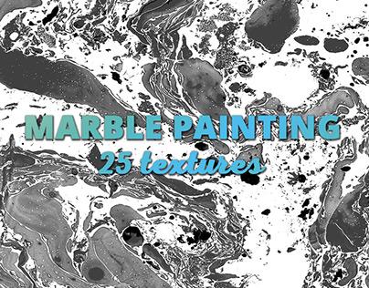 Black & White Marble Paint Textures