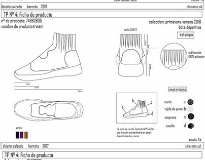Diseño de calzado Barretto 2017