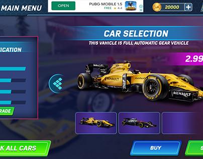 formula car stunts ui (new concept)