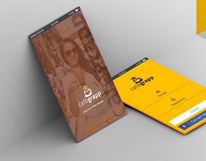 Cafegrapp - Mobile App UI Design - Free Download PSD