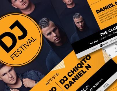DJ Festival Flyer | Poster Template