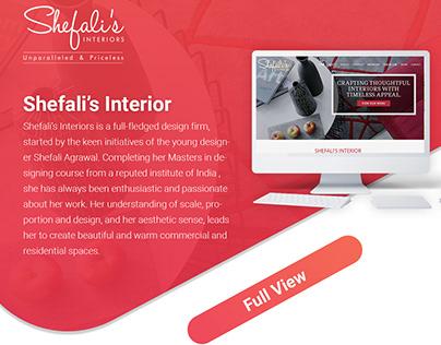 Shefali's Interior - Interior Designer website