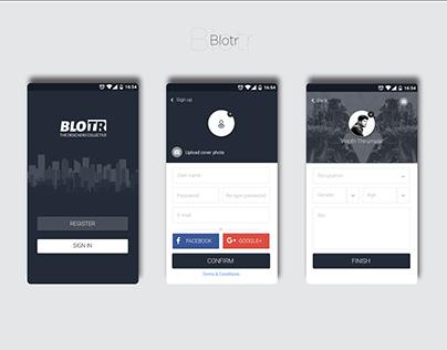 Blotr app UI/UX