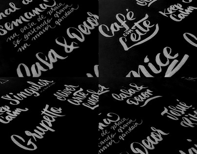 Hand lettering and calligraphy studies