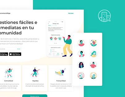Tucomunidapp web & app design.