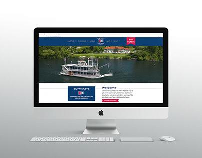 Lake Geneva Cruise Line Website Design