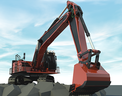 Construction Machines Series / 3D Excavator Modelling