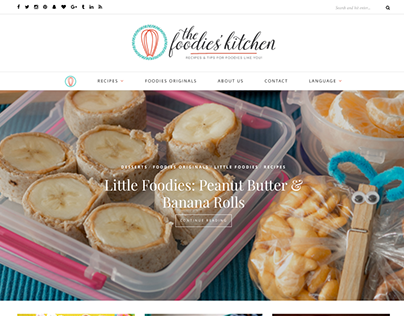 Site and logo 2016 update for The Foodies' Kitchen