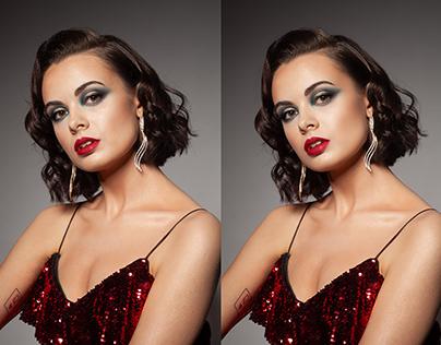 Retouching: Glamour portrait