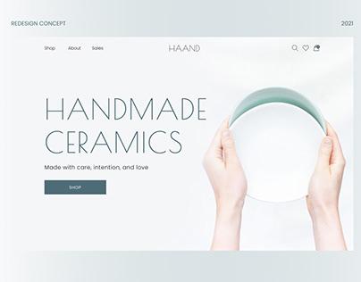 Haand | Redesign concept