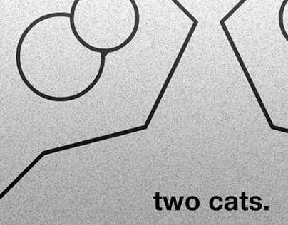 two cats.