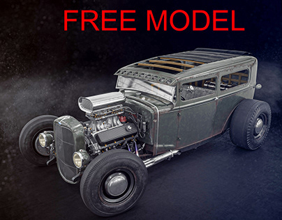 FREE MODEL Ford Model A hot rod