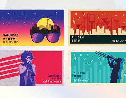 e11even - DJ & Jazz Nights Campaign
