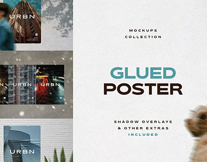 Glued Poster Mockup Bundle by Pixelbuddha