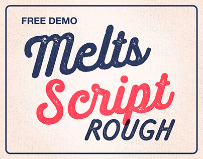 Melts Script Rough (Typefamily) 20% off